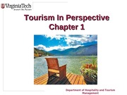 Chapter 1 Tourism in Perspective