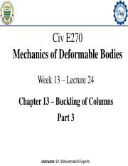 13-Civ E 270 - Lecture 24_Buckling of Columns_Part 3_Annotated-min.pdf