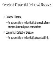 Lecture 17 - Genetic Diseases(5)