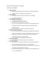 Fundamentals NURS 305 Exam 1 study guide