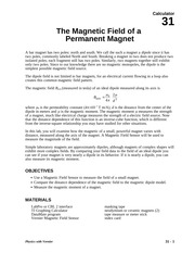 31 Magnetic Field of Magnet