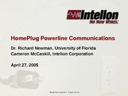 Intellon_HomePlug_Overview_DVAC SCTE_Meeting_042705