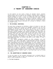 Chapter V Theory of Consumer Choice (1)