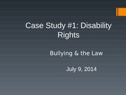 Disability Rights, Part I - 7-14