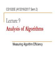 L09 - Analysis of Algorithms.pdf
