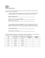 Exam 2 Spring 2014 practice questions