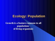 Chapter52 Ecology Population