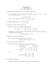 Exam B Solutions on Linear Algebra