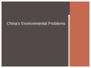 China's Environmental Problems