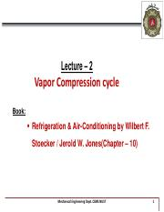Lecture 2 - Vapor Compression Cycle.pdf
