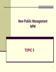 Topic 5 New Public Management.ppt
