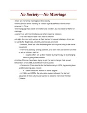 Na Society - No Marriage