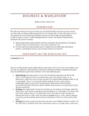 Business Worldview