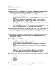 BUAD 301 Review Sheet Exam 4