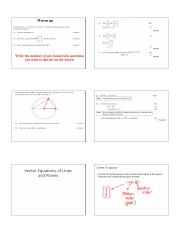 10.13 Vector equations of lines and planes