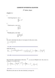 ELEMENTRY DIFFERENTIAL EQUATIONS 5.1