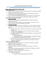 American Government Chapter 9 & 10 Notes.docx