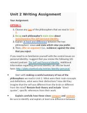 PHILOSOPHY- Unit 2 Writing Assignment.docx