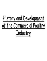 1) History and Development of the Commercial Poultry Industry - slides.pdf