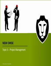NEW OMSE Topic 5.pptx