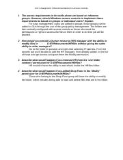 Unit 2 Assignment 1 Recommendations for Access Controls.docx
