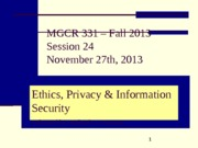S24_F13_MGCR331_Privacy and Security