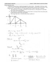 Statics Review and Intro to Stress Problem Set