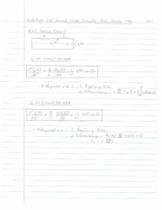 ECE 201 - Handnotes - Lecture 23 - Second Order Cricuits - RLC Source Free Case - F11