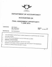 Accounting 2A