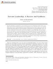 A servant Leadership  a review and synthesis.pdf