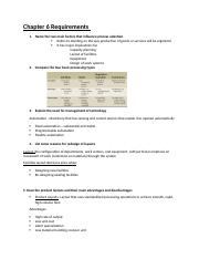 Operations Mgt- Test 2 outline