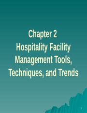 3473 Chapter 2 Facility Management Tools Techniques and Trends