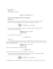 Microeconomics Problem Set #1 Answers