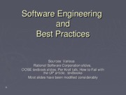 1-SoftwareEngineeringandBestPractices