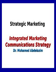 9- Integrated Marketing Communications Strategy