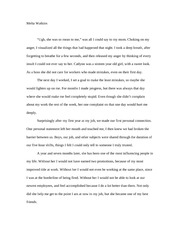 essay about mom influence My mom essaysshe has taught me to always try my best, to treat everyone equally, to not give up when things get hard she tells me to at all times be honest because.