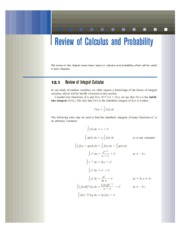 12 Review of Calculus and Probability