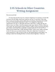 2.05 Schools in Other Countries Writing Assignment.docx