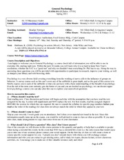 General_Syllabus_Spring 2011