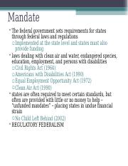 Federalism 1.4 -- Federalism Today.ppt