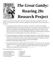 Roaring20sProject