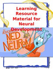 Learning Resource Material for Neural Development cover page and table of contents.docx