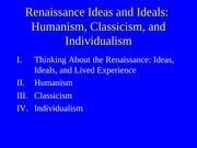 humanismclassicismindividualism.outline