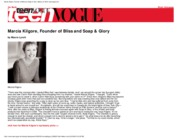 Marcia Kilgore, Founder of Bliss and Soap & Glory_ Beauty at Work_ teenvogue