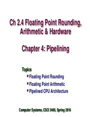 Week8_Floating Point and Processor Architecture.ppt
