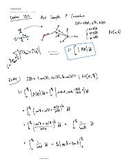Lecture 6 Arc Length and Curvature