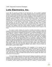 Lotis Electronics_Sequential Investment Strategies_new_012015