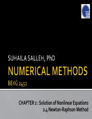 Chapter2 BEKG2452 2.4 Solution of Nonlinear Equations_Newton Raphson Method