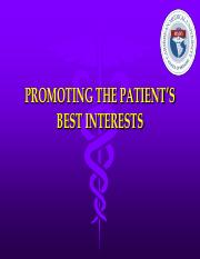 3-PROMOTING THE PATIENT'S BEST INTERESTS.pdf