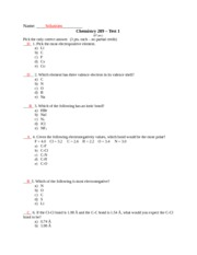 Chemistry 289- TEST 1-solutions